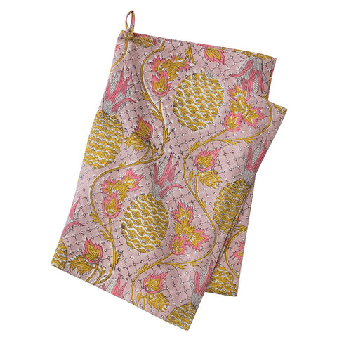 Pineapple Rose Tea Towel