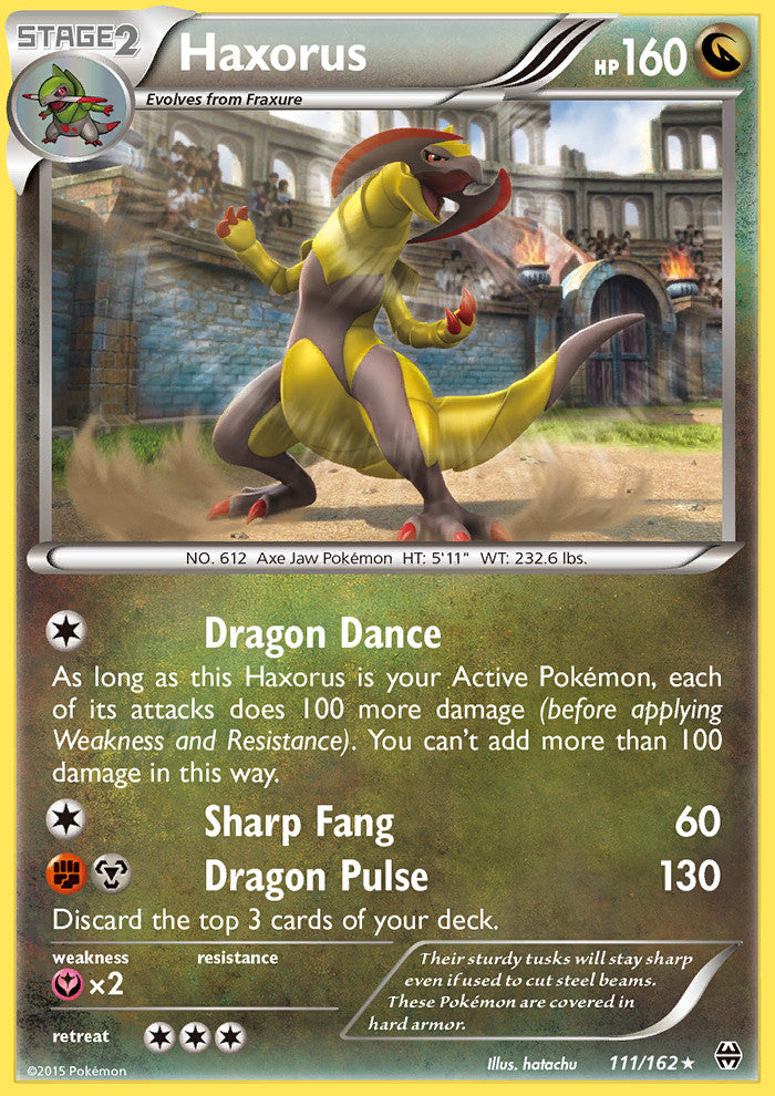 Breakthrough Haxorus - 111/162 - Holo Rare
