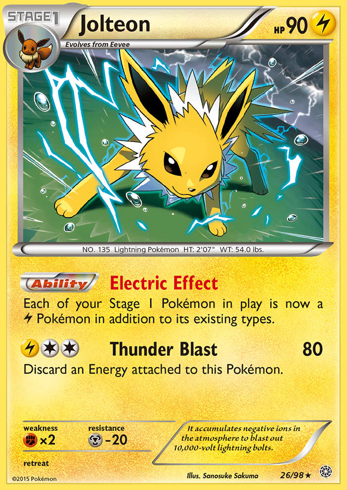 Ancient Origins Jolteon - 26/98 - Holo Rare - Reverse Holo