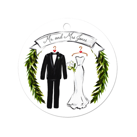 Bride and Groom Ornament