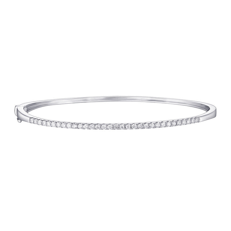 Diamond White Gold Bangle