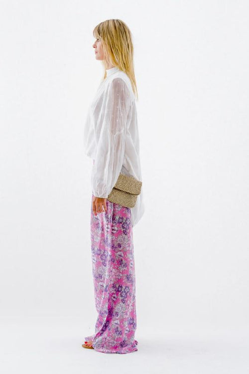 French Garden Pants-Pink