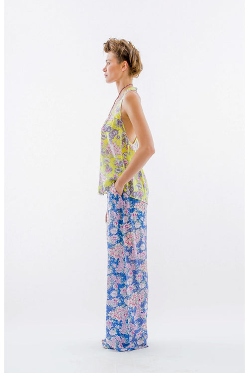 French Garden Pants-Blue