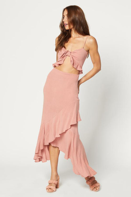 Michelle Maxi Dress-Pink Crinkle