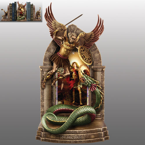 (B) BOOKENDS - ARCHANGEL MICHAEL BOOKEND 0120278002-T