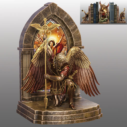 (B) BOOKENDS - ARCHANGEL RAPHAEL BOOKEND 0120278003-T