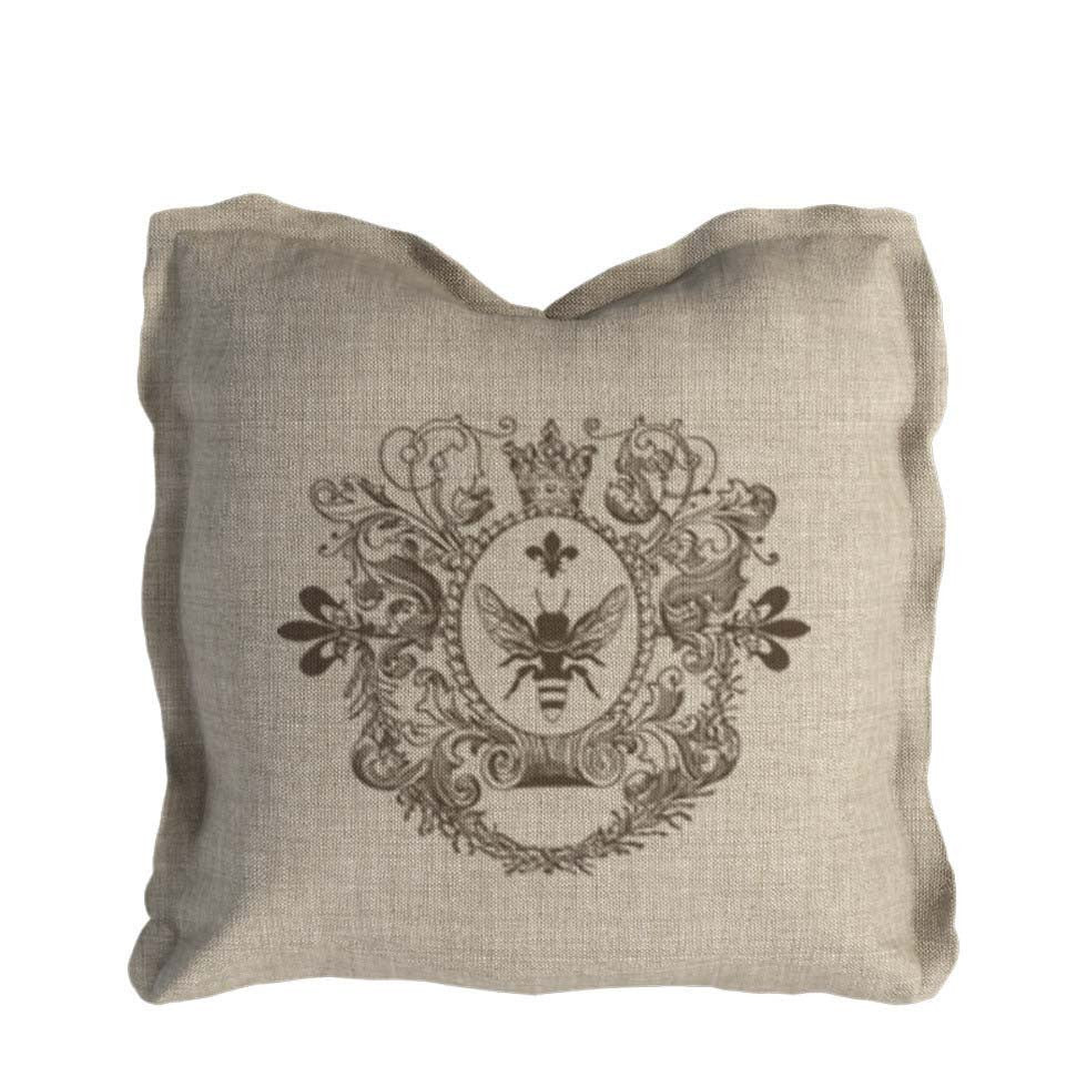 Curations Limited Logo Pillow Beige Linen