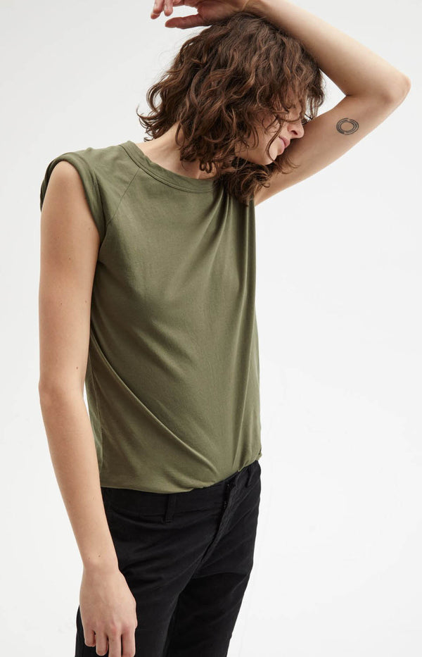 Short Sleeve Baseball in Army GreenNili Lotan - Anita Hass