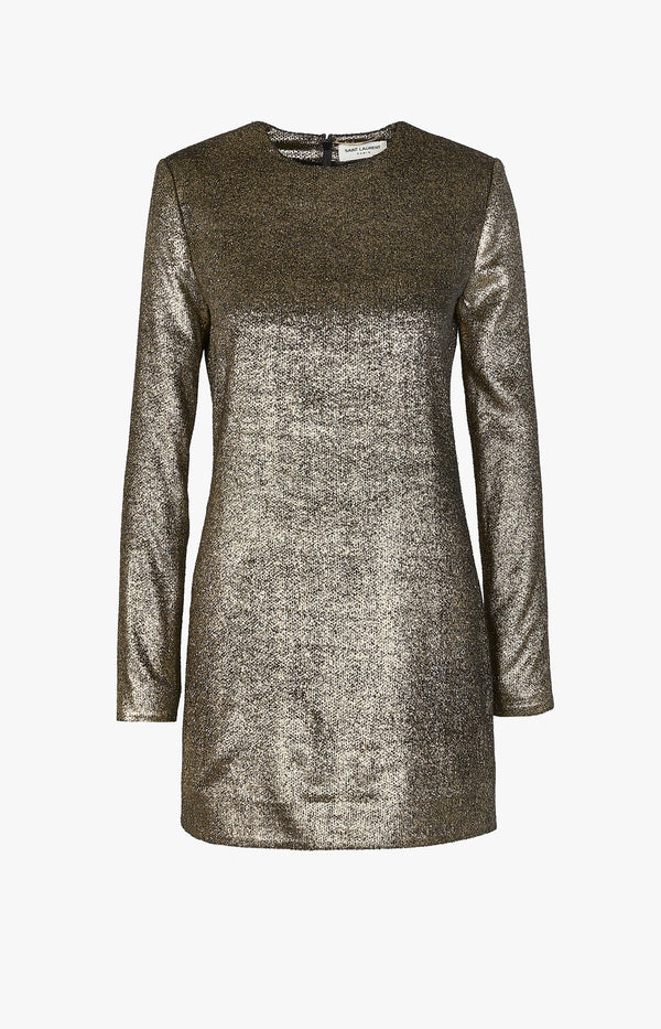 Minikleid im Velours-Look Gold MetallicSaint Laurent - Anita Hass