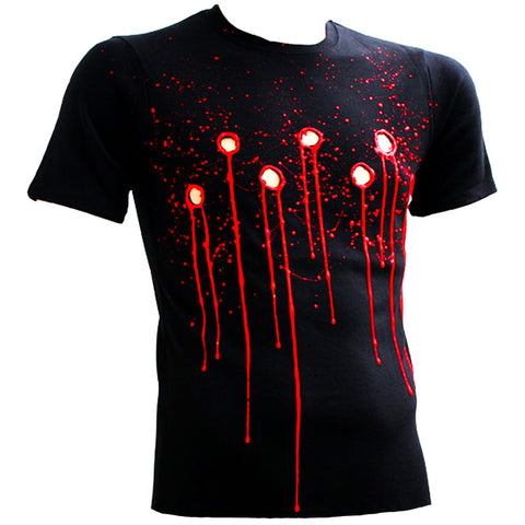 COUCHUK - UV REACTIVE - BULLET HOLE T-SHIRT BLACK - Clubwear - PLUR - Rave clothing