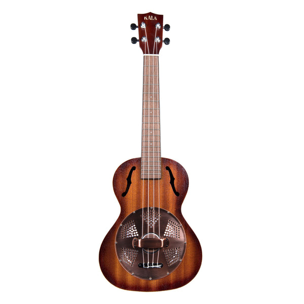 Kala Satin Resonator Brass Tenor Ukulele