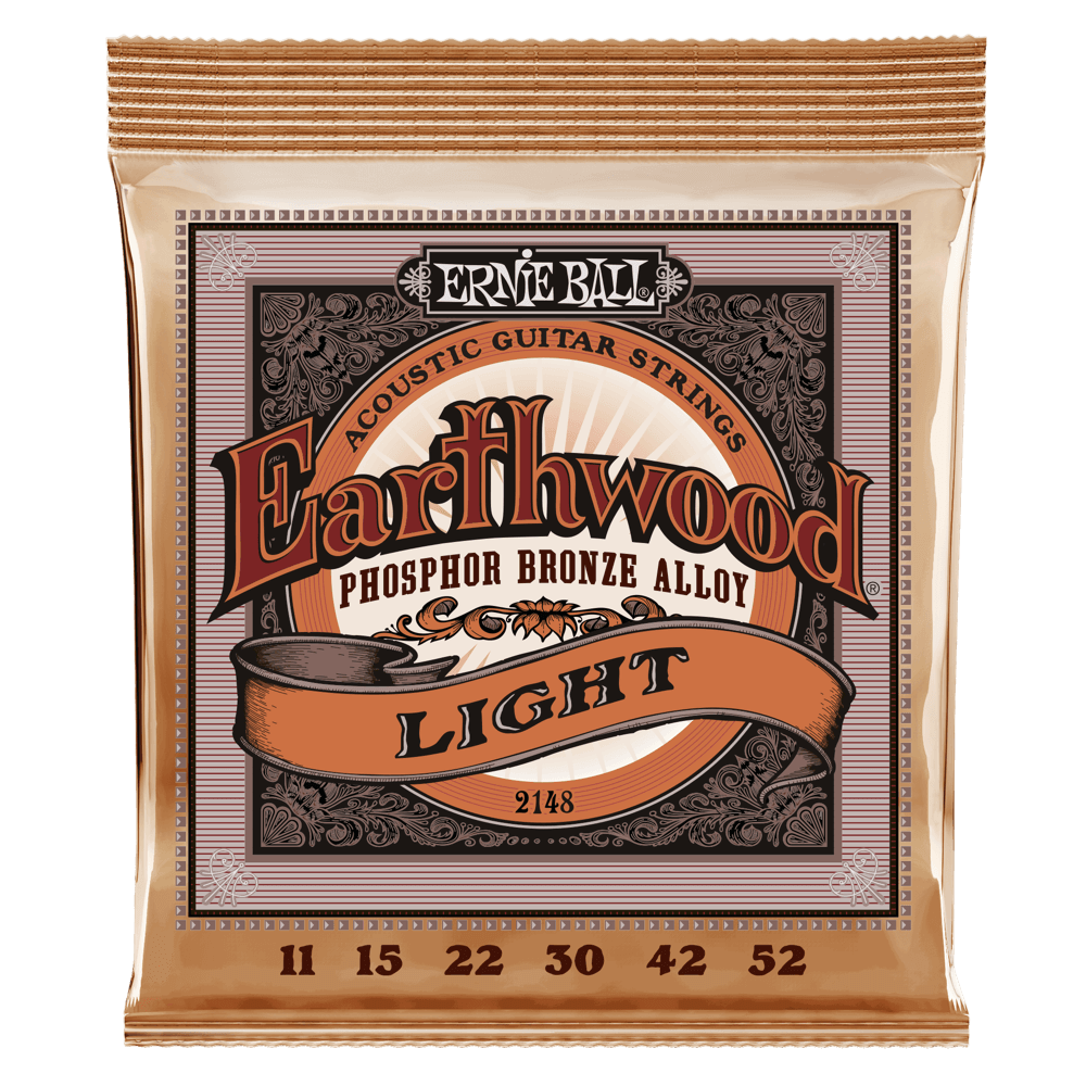 Ernie Ball Phosphor Bronze Acoustic Strings - Light