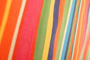 Bright Striped Rod Pocket Curtain Panels On Sale