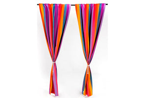 Multi Color Striped curtains & Drapes on sale