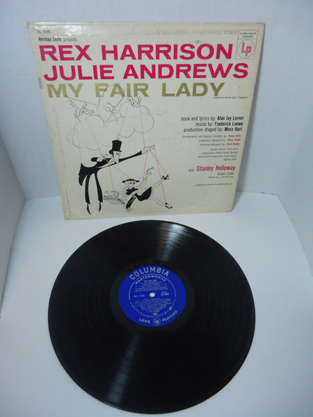 Rex Harrison, Julie Andrews With Stanley Holloway ‎– My Fair Lady LP Canada