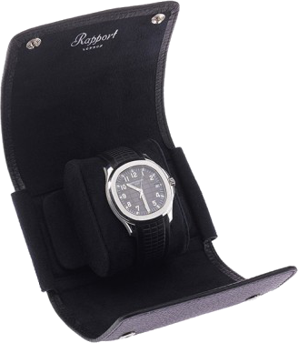 Rapport Berkeley Watch Roll Single in Black Leather D190