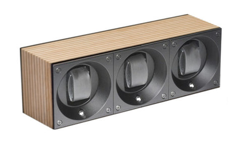 Swiss Kubik SK03.BYV001 3-Unit Watch Winder in Light Yacht Wood