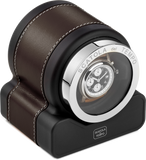 Scatola del Tempo RT1 HDG Single-Unit Watch Winder In Brown Leather