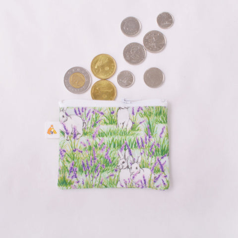 Coin Purse - Bunny and Lavender