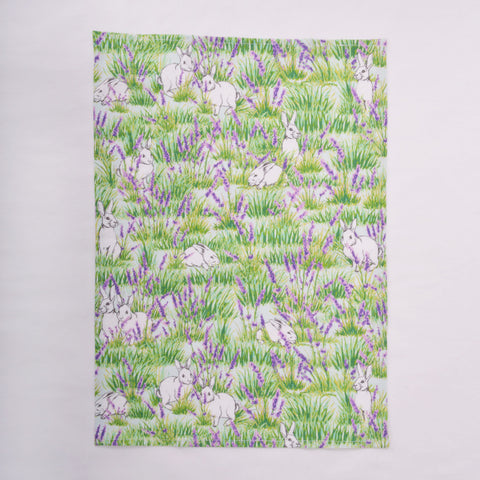 Tea Towel - Bunny and Lavender