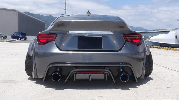 Rallybacker Scion FRS/Subaru BRZ V2 Rear Diffuser
