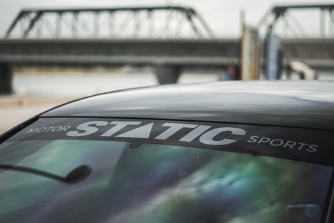 Static Motorsports Windshield Banner - Bold