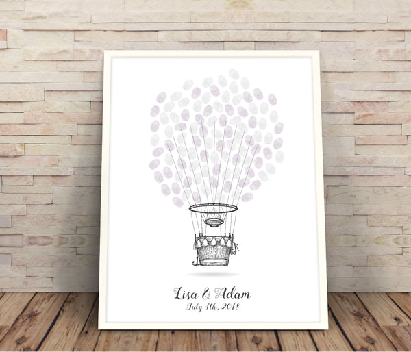 Hot air balloon guest book - Wedding Fusions