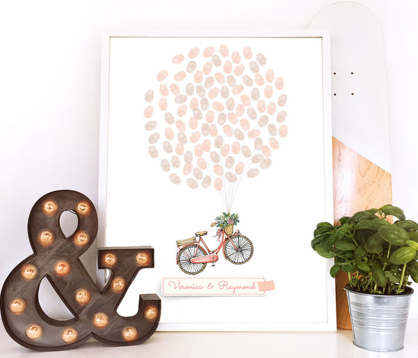 Bicycle finger print guestbook - Wedding Fusions