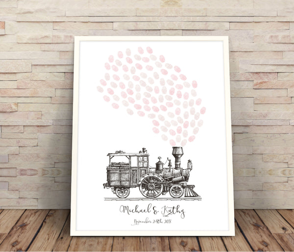 Train fingerprint guestbook - Wedding Fusions