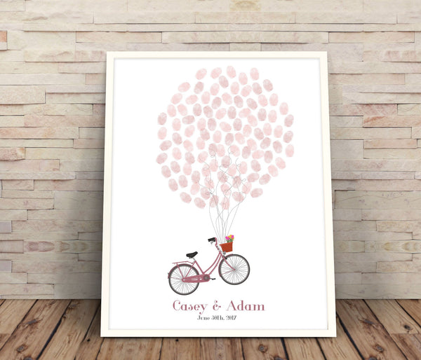 Bicycle fingerprint guestbook - Wedding Fusions