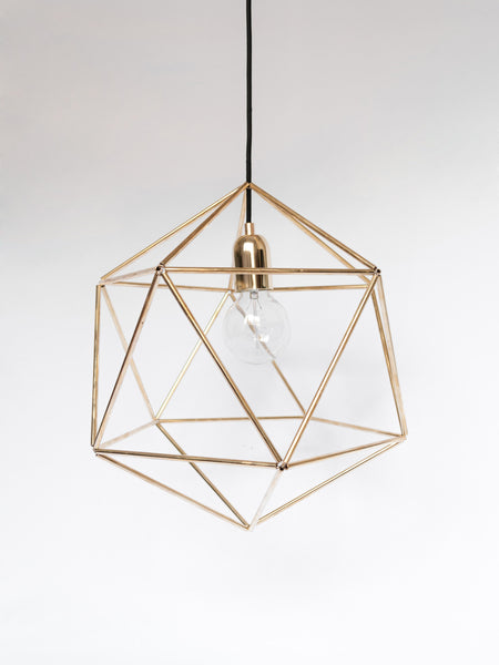 Geometric Brass Pendant Lamp