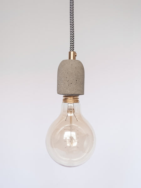 Single Concrete Cord Lamp