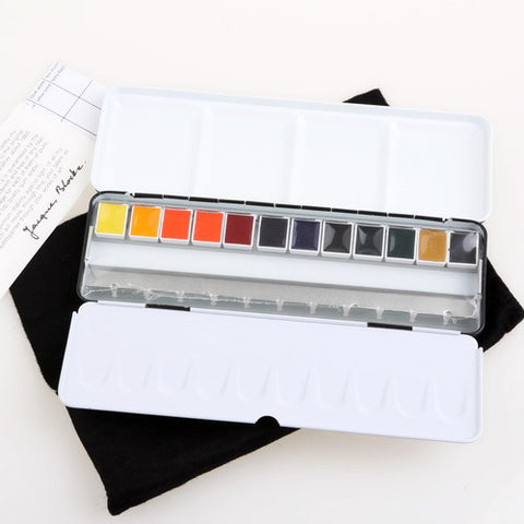 Pro Painter Solid Watercolor Pigment 12 Color/Set - BLOCKX-orderinbox