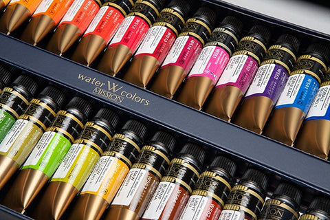 Gold Class Watercolors Nature Pigment MIJELLO 15ml 34 colors-orderinbox