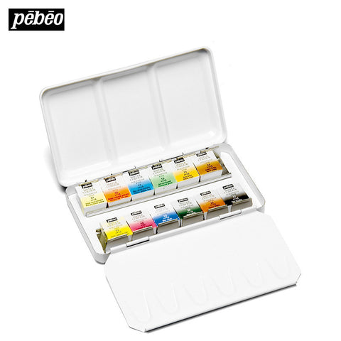Pebeo 12 Color Solid Metal Box-orderinbox