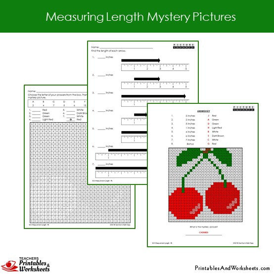 Grade 2 Measuring Length Mystery Pictures - Sample 1