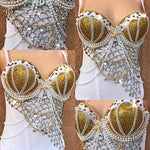 Gold Under The Sea Mermaid Rave Corset