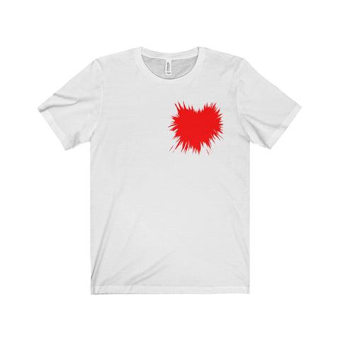 A Heart Splattered Men's Short Sleeve Tee