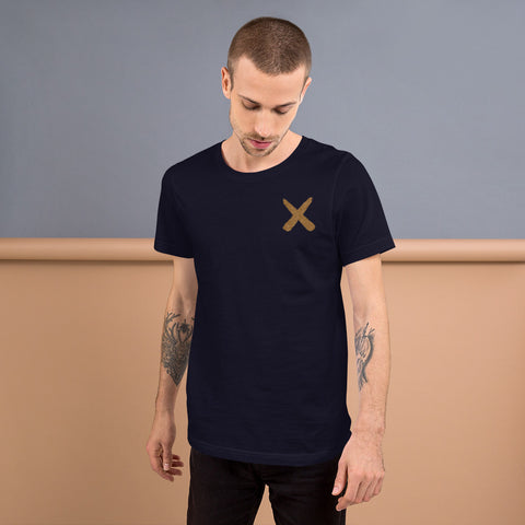 Drawn X Gold Logo Short-Sleeve Unisex T-Shirt
