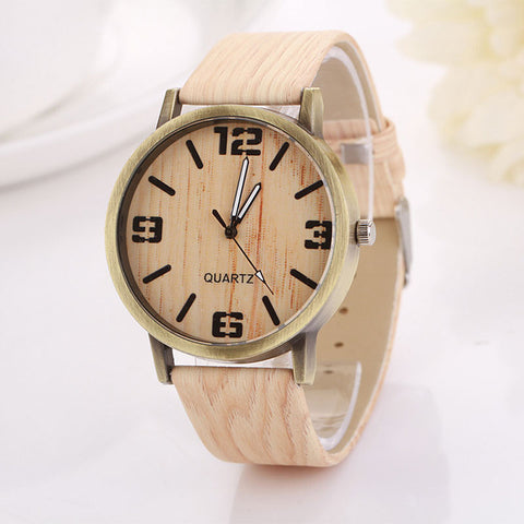 Vintage Wood Grain Fashion Watch