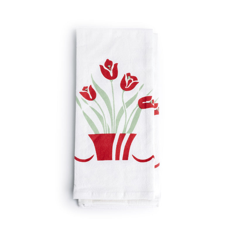 Red Tulips Kitchen Towel - The Pioneer Woman Mercantile