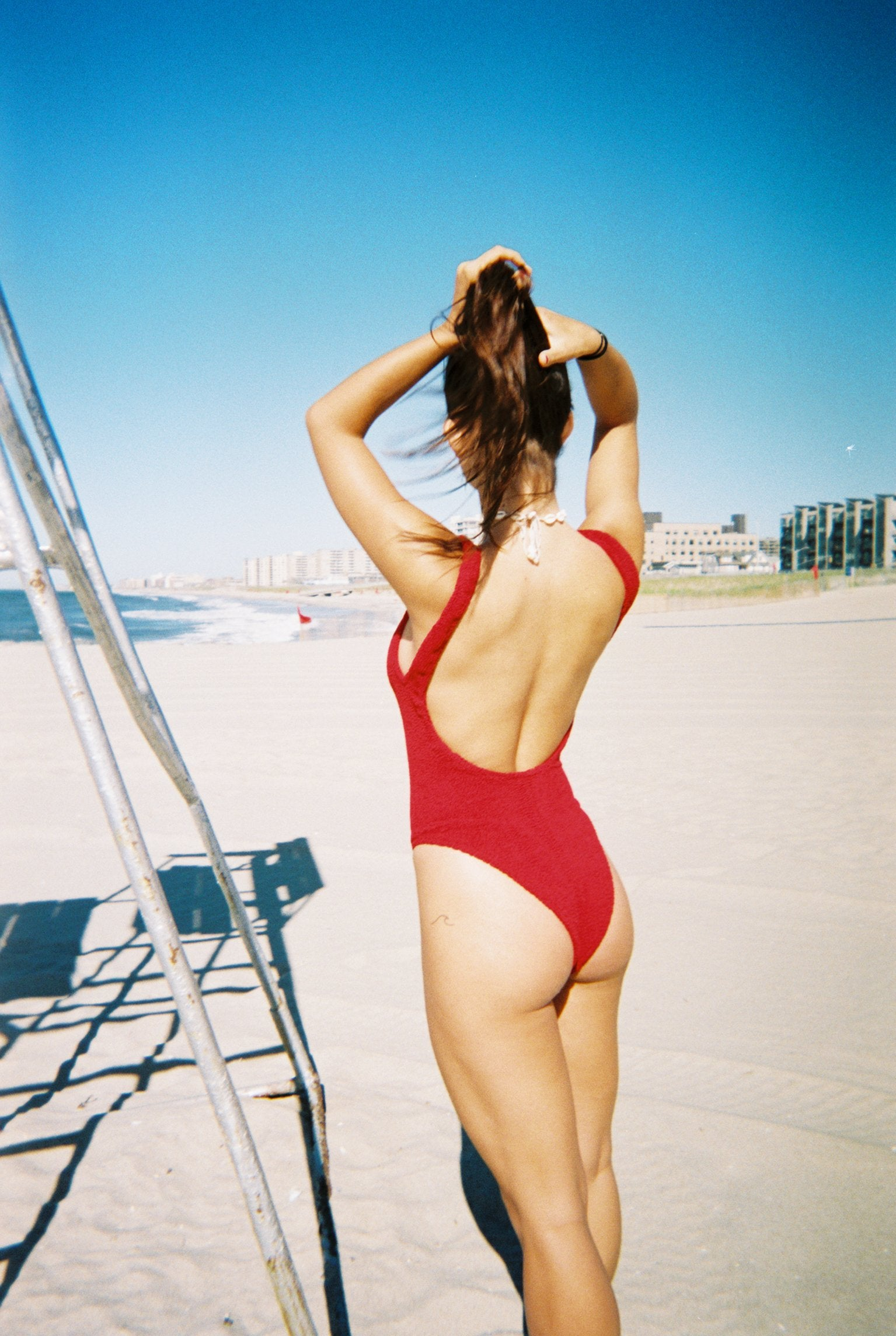 Hunza G One Piece Swimsuit Cherry