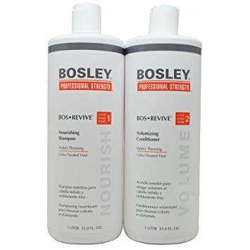 Bosley Revive Shampoo & Conditioner 1 Liter Set for Color-Treated Hair
