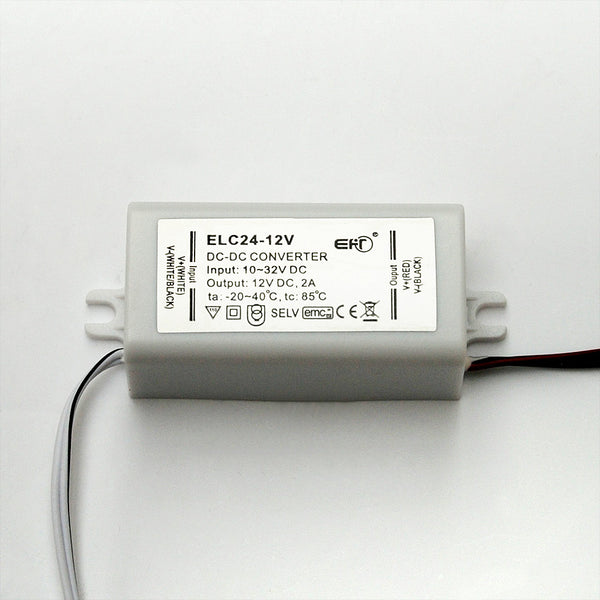 10-30V DC Input to 12V DC Voltage Convertor & Stabiliser: 24W