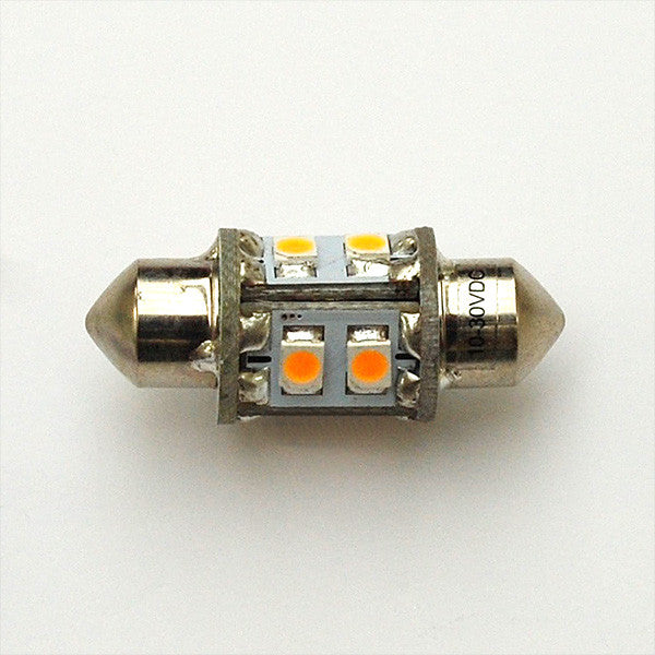 Warm White 31mm 8 SMD 3528 Festoon Lamp