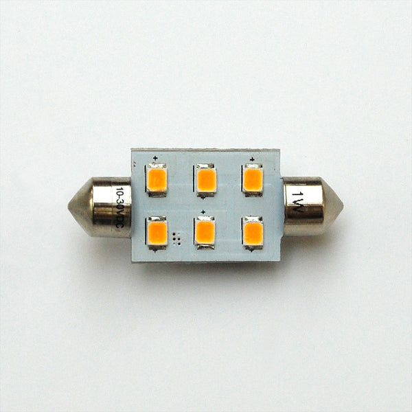 37mm 6 SMD 2835 High Output LED Festoon Lamp