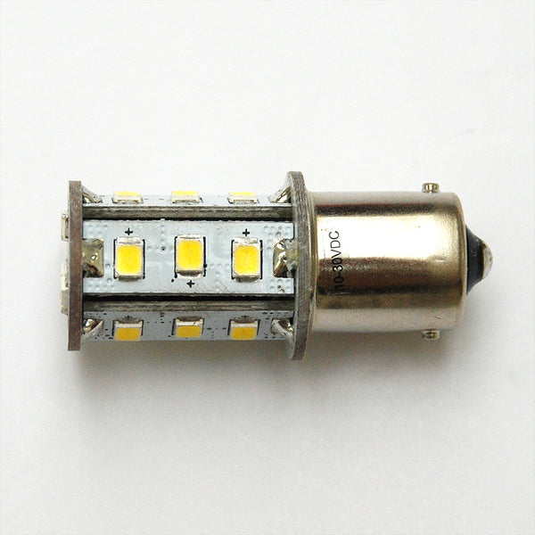 BA15S 18 SMD 2835 Compact LED Lamp: Cool White