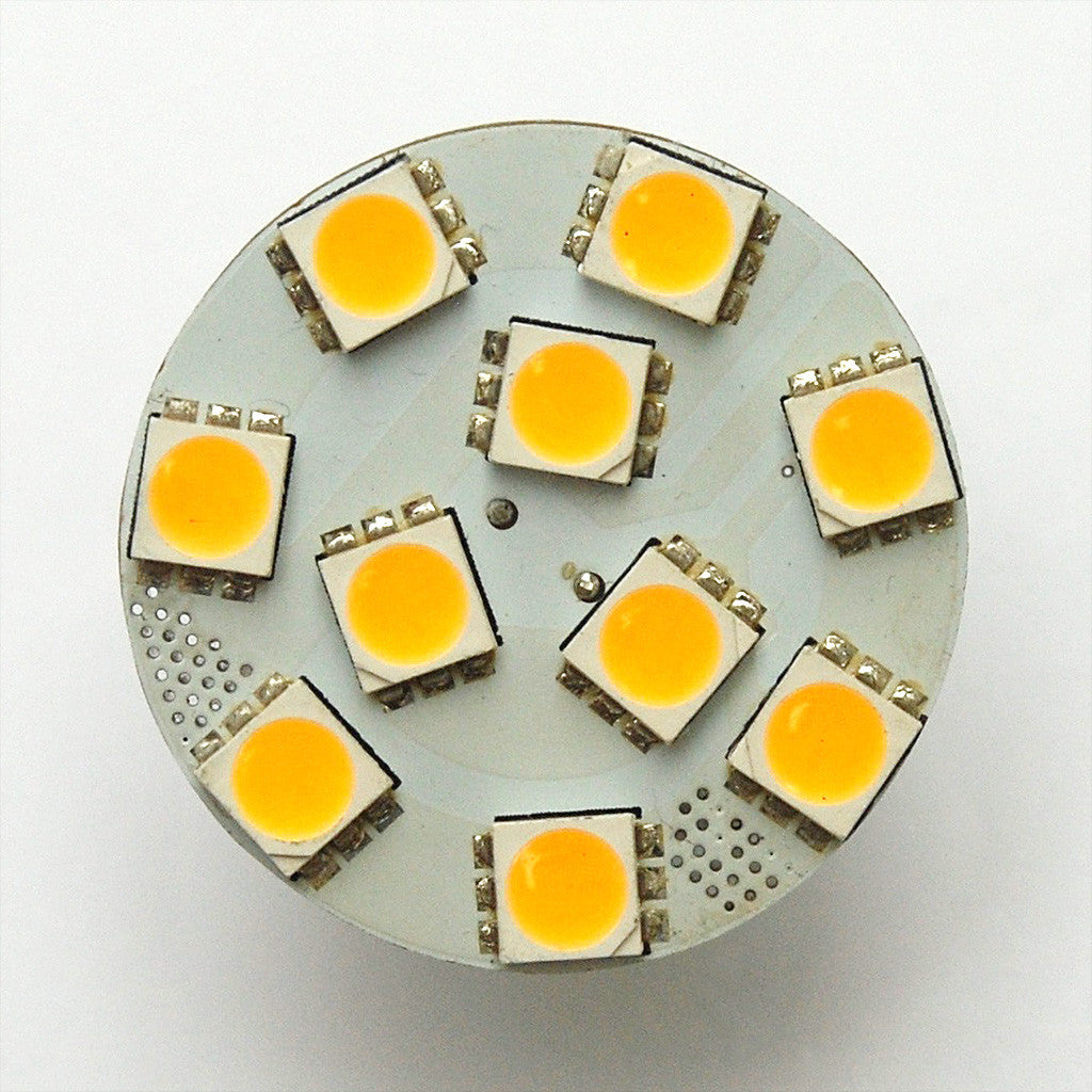 G4 10 SMD 5050 LED Planar Disc Lamp: Back Pin, Protected