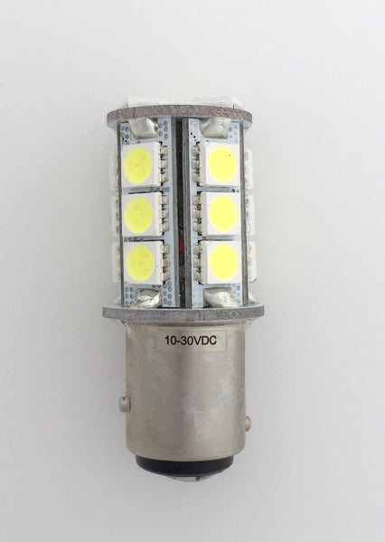 BAY15D 18 SMD 5050 Compact LED Navigation Light Bulb - Cool White