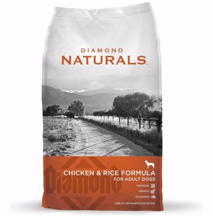 DIAMOND NATURALS CHICKEN & RICE DRY FOOD FOR ADULT DOGS